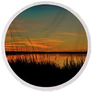 North Bridge Park Sunset Round Beach Towel