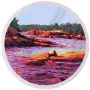 North Channel Islands Round Beach Towel