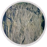 210363-north Chasm View Wall  Round Beach Towel