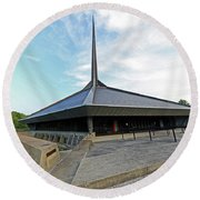 North Christian Church, Columbus, Indiana Round Beach Towel