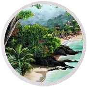 North Coast Tobago Round Beach Towel