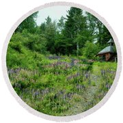 North Country Nod To Monet Round Beach Towel