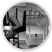 North End Moments Round Beach Towel