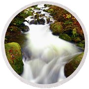 North Fork Of Wallace Round Beach Towel