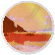 North Friars Bay Diffused Round Beach Towel