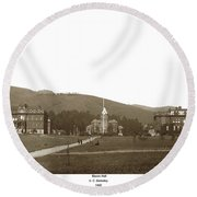 North Hall, Bacon Hall, Library, South Hall, University Of Calif Round Beach Towel