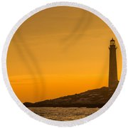 North Light Morning Glow Round Beach Towel
