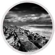 North Mole Round Beach Towel