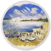 North Of France 02 - The Coast Round Beach Towel