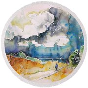 North Of France 04 Round Beach Towel