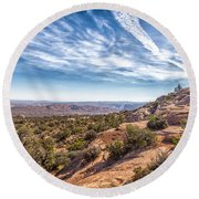 North Of Moab Round Beach Towel