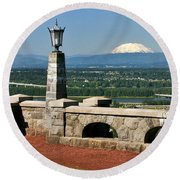 North Of Portland Round Beach Towel