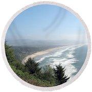North Oregon Coast Photograph Round Beach Towel