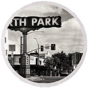 North Park San Diego Round Beach Towel