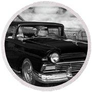 North Rustico Vintage Car Prince Edward Island Round Beach Towel