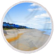 North Sea Beach 3 Round Beach Towel