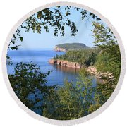 North Shore Lake Superior Round Beach Towel