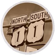 North South 1 Round Beach Towel