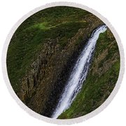 North Table Mountain Falls Round Beach Towel