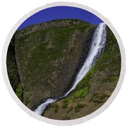 North Table Mountain Spring Falls Round Beach Towel