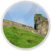 North Tower- Tutbury Castle Round Beach Towel