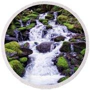 North Umpqua Wild And Scenic River Round Beach Towel