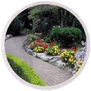 North Vancouver Garden Round Beach Towel by Will Borden