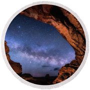North Window Milky Way Round Beach Towel