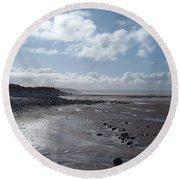 Northam Burrows Beach Round Beach Towel