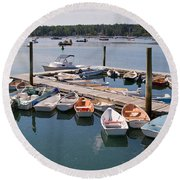Northeast Harbor Maine Round Beach Towel