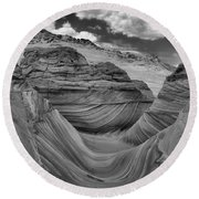 Northern Arizona Desert Swirls Round Beach Towel