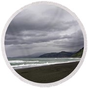 Northern California Beach Round Beach Towel