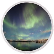 Northern Light Xiv Round Beach Towel
