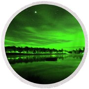 Northern Lights 3 Round Beach Towel