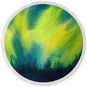 Northern Lights I Round Beach Towel