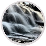 Northern Michigan Up Waterfalls Bond Falls Round Beach Towel