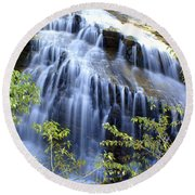 Northfork Falls Round Beach Towel