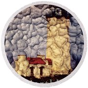 Northhead Lighthouse Round Beach Towel