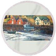 Northwest Cove, Nova Scotia Round Beach Towel
