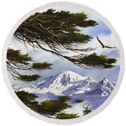 Northwest Majesty Round Beach Towel