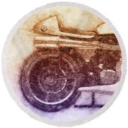 Norton Manx 2 - Norton Motorcycles - 1947 - Vintage Motorcycle Poster - Automotive Art Round Beach Towel