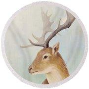Norway Deer Round Beach Towel