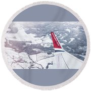 Norwegian Aerial Round Beach Towel