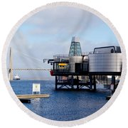 Norwegian Petroleum Museum Round Beach Towel