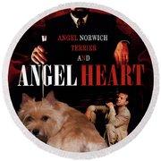 Norwich Terrier Art Canvas Print - Angel Heart Movie Poster Round Beach Towel