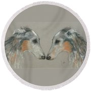 Nose To Nose Round Beach Towel
