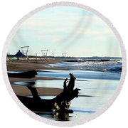 Not A Soul Grand Bend Round Beach Towel