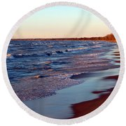 Not A Soul Grand Bend 7 Round Beach Towel