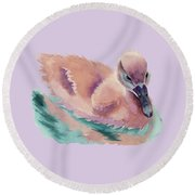 Not An Ugly Duckling Round Beach Towel