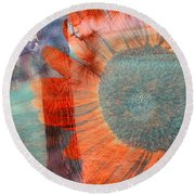 Not Another Sunflower Round Beach Towel by Myrna Migala